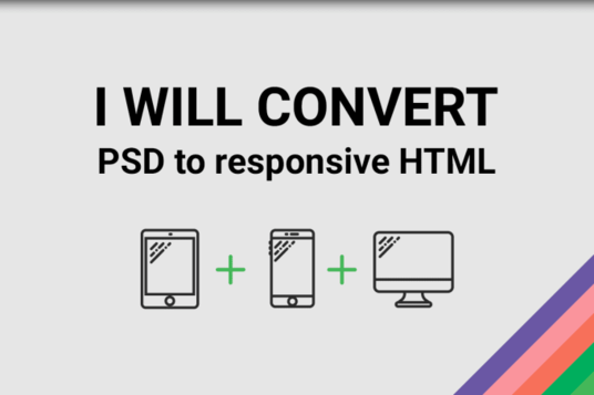 I will Convert Psd to Html5  With Responsive