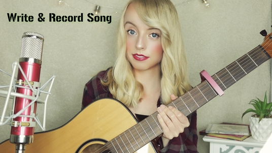 write and record a 30 second acoustic jingle