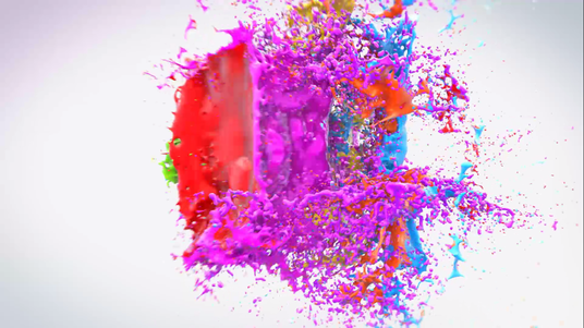 Create Colorful Splash Logo Intro Video