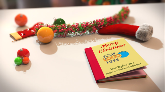 Create this amazing 3d Christmas greeting video pop art book