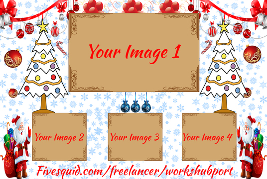 I will Put Your Images in  this Christmas Photos Frame