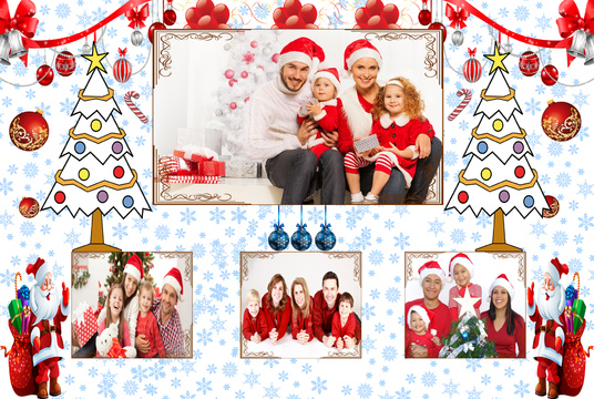 Put Your Images in  this Christmas Photos Frame