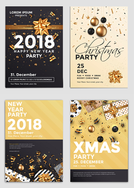 Design a Christmas or New Year greeting card with unlimited revisions