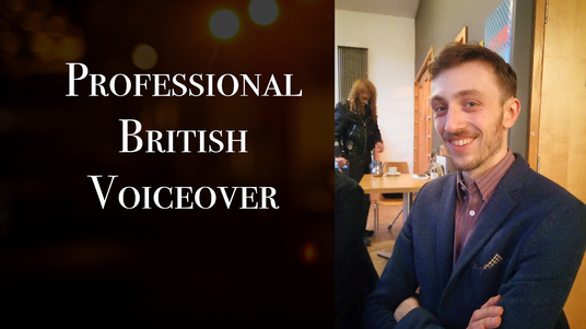 record a professional British voiceover, today