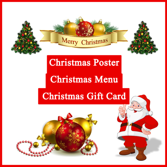 I will design Luxury Christmas  Posters, Christmas Menu, Gift Cards