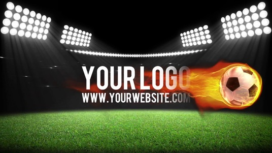 I will create this sport SOCCER stadium fireball video intro