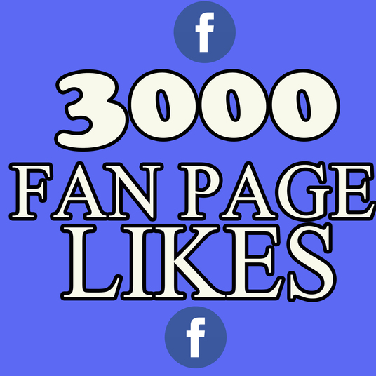 I will add 3000 real Facebook fan pages likes