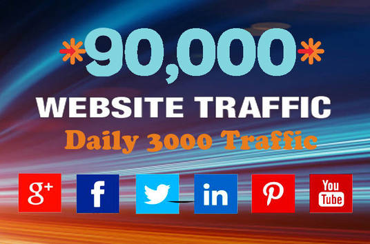 send 90,000 website traffic and visitor to your website