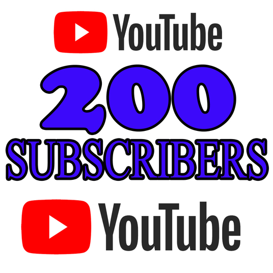 I will give 200 real YouTube Subscribers, Non-drop