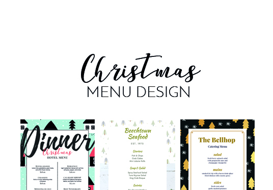 design a Christmas menu