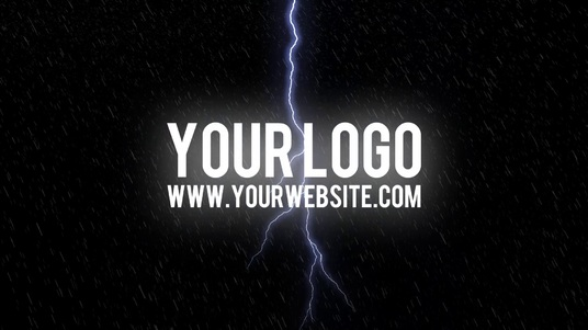 cccccc-reveal your logo with a THUNDER rainy storm video intro