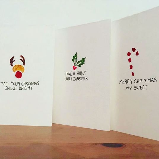 I will create 3 bespoke Christmas cards with a choice of printed designs