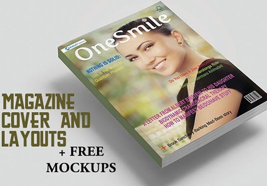 I will create Magazine cover with Mockup