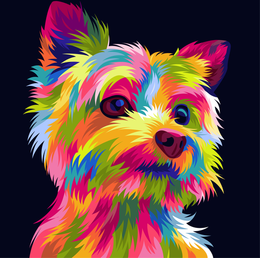 I will draw your pets into funny popart vector