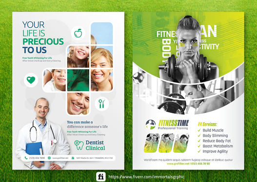 design any poster, flyer, or a brochure