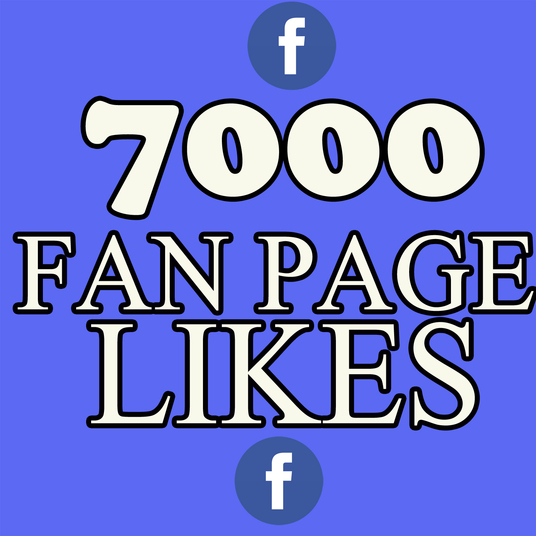 I will add 7000 real Facebook fan pages likes