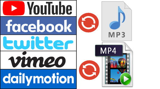 I will download and convert 1-10 YouTube, Facebook, Twitter, Vimeo and Dailvmotion videos to MP3