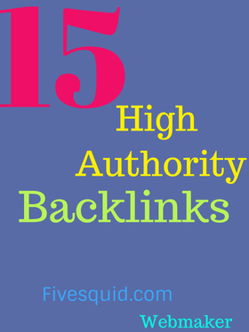 create 15 high authority backlinks