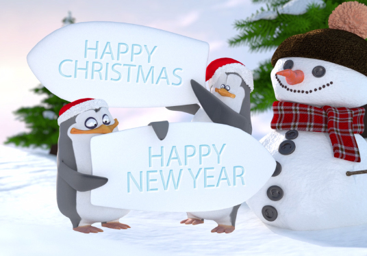 create all 5 Christmas greeting videos