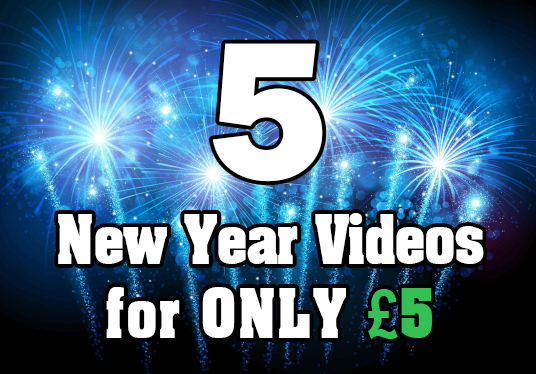 create all 5 New Year greeting videos
