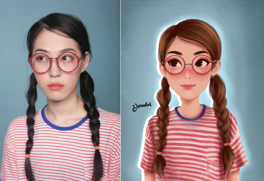 I will draw cute cartoon from your photo