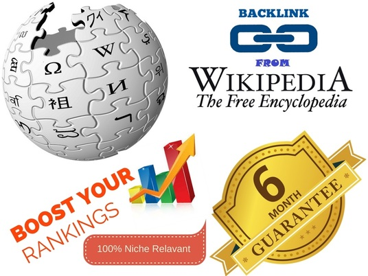 I will Create 100% Niche Relevant Wikipedia.org Backlinks With 6 Months Guarantee