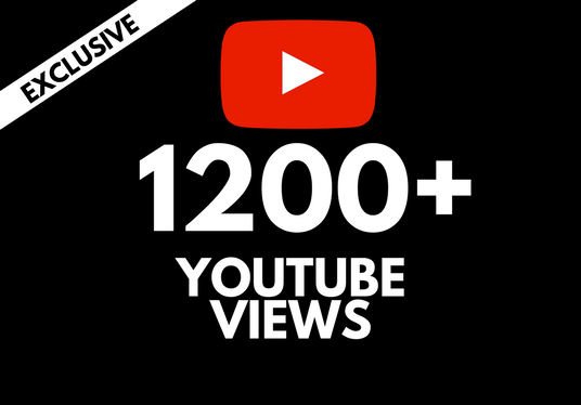 I will add 1000 - 1500 views to your Youtube video