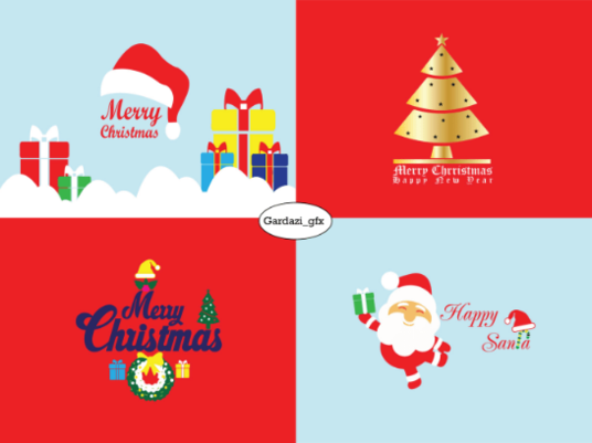 I will Design Professional Christmas Logo For You