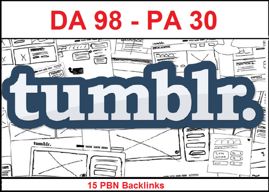 I will Provide 15 Permanent Backlinks Manually PBN On DA 98 PA 30+ Tumblr