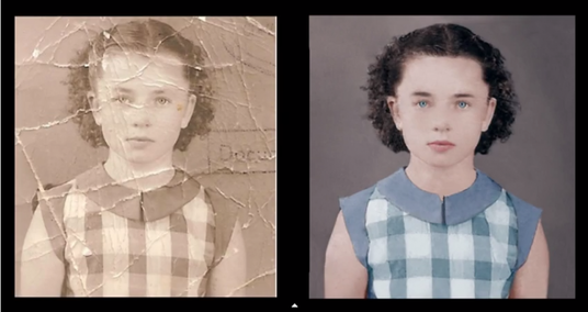 fix and  colorize  an old photograph