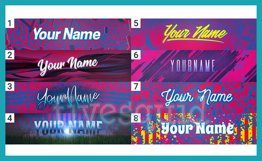 I will personalise a header template with your name