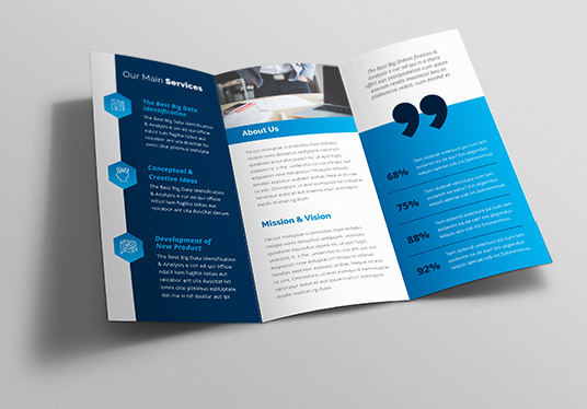 Design Corporate Business Tri-Fold Brochure