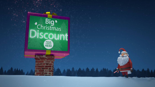 cccccc-Santa Christmas Intro Video with your Logo or Text