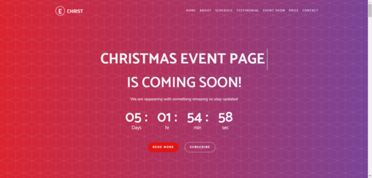 build and design a christmas landing page