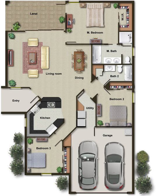 I will make 2d color floor plan for real estate agents