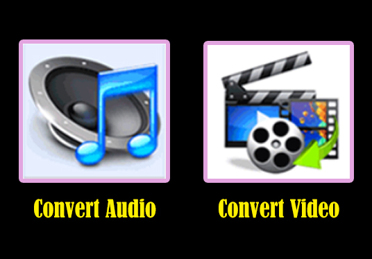 I will convert your audio and video file in any format what you want