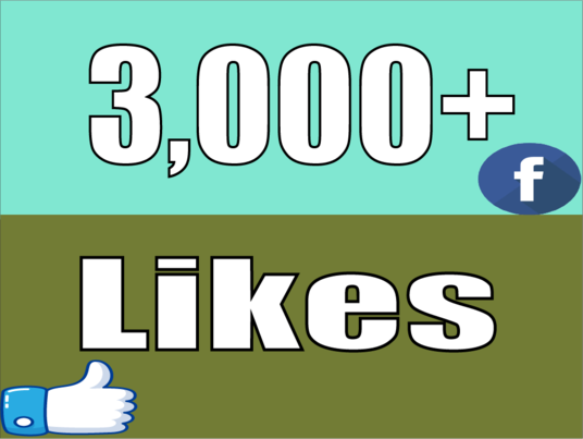 I will Give you Instant 3,000 Facebook Photo,Post Likes