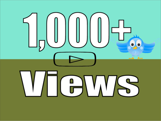 I will add 1,000+ Twitter Video Views