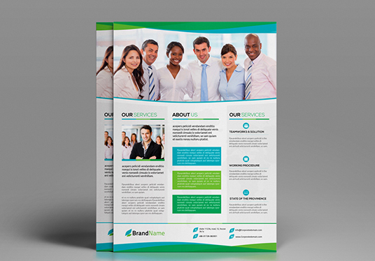 I will Design a Professional & Corporate Flyer, Poster, Advert, Banner