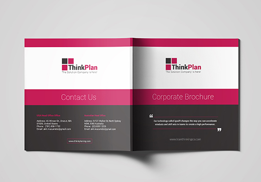 Design Square Brochure, Booklet Professionally