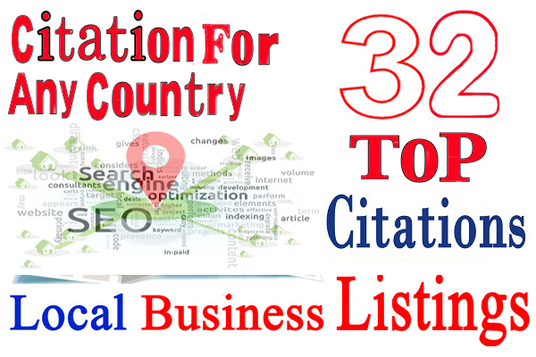 I will do 32 live local citations for your Business ANY Country