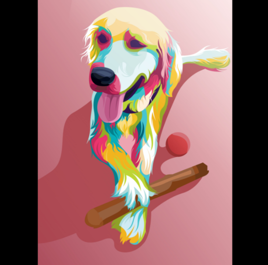 I will draw your pets to be funny and interesting with popart vector