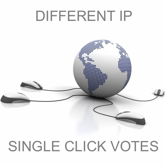 I will provide 40 single click different ip votes