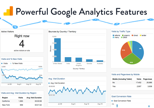install Google Analytics on your website for visitor monitoring