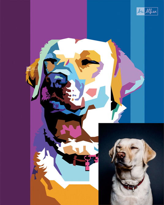 I will draw Pop-Art of your Lovely Pet