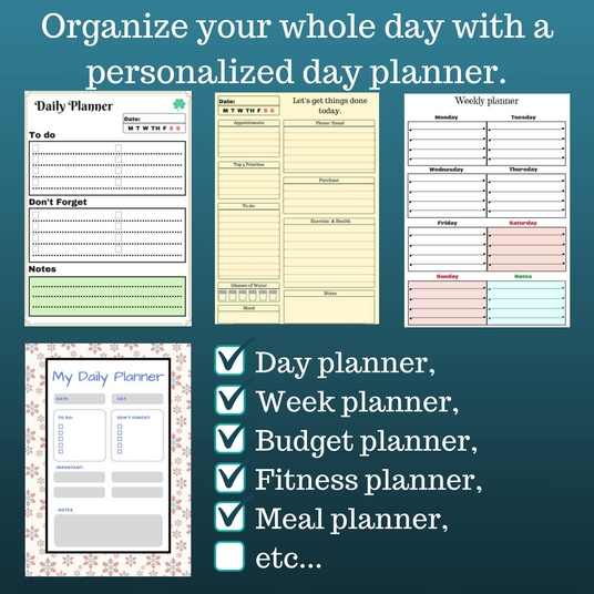 I will design a personalised planner