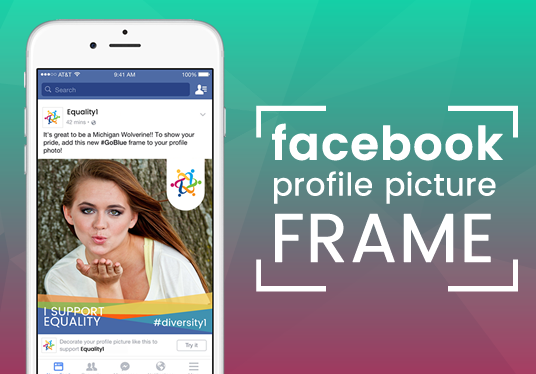 I will design your Facebook profile picture frame