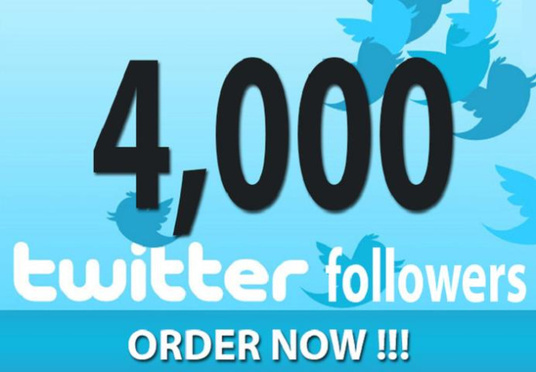 I will Deliver 4000  Non Drop Twitter followers