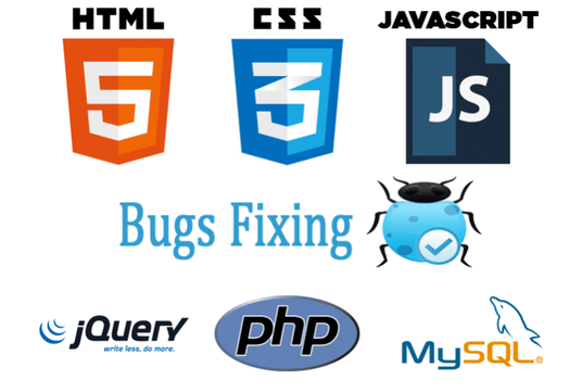 I will Fix Html, Css, Jquery, Javascript, And PHP Bugs