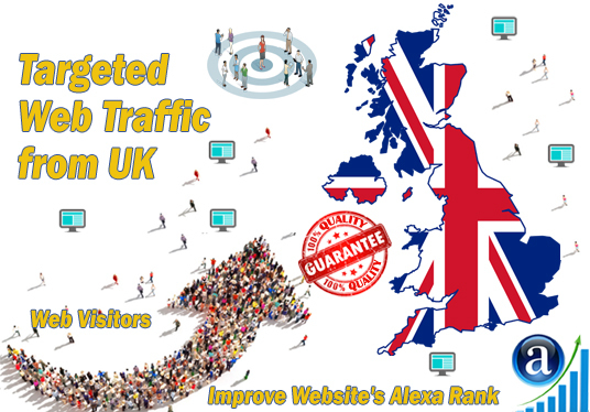 I will send 25000 web visitors targeted organic traffic from UK